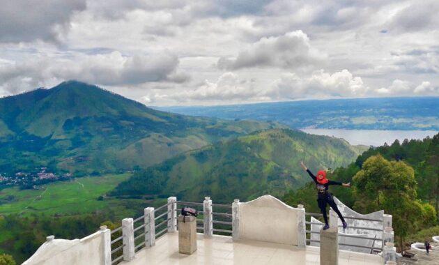 10 Gambar Menara Pandang Tele Samosir, Jalan Menuju Lokasi ...