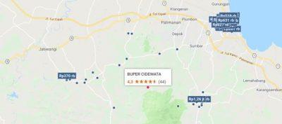 Letak Buper Cidewata | Foto: maps.google.com